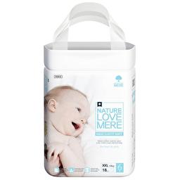 Подгузники-трусики детские Nature Love Mere, серия MAGIC SLIM FIT, размер XXL, 18 шт [13+ kg]